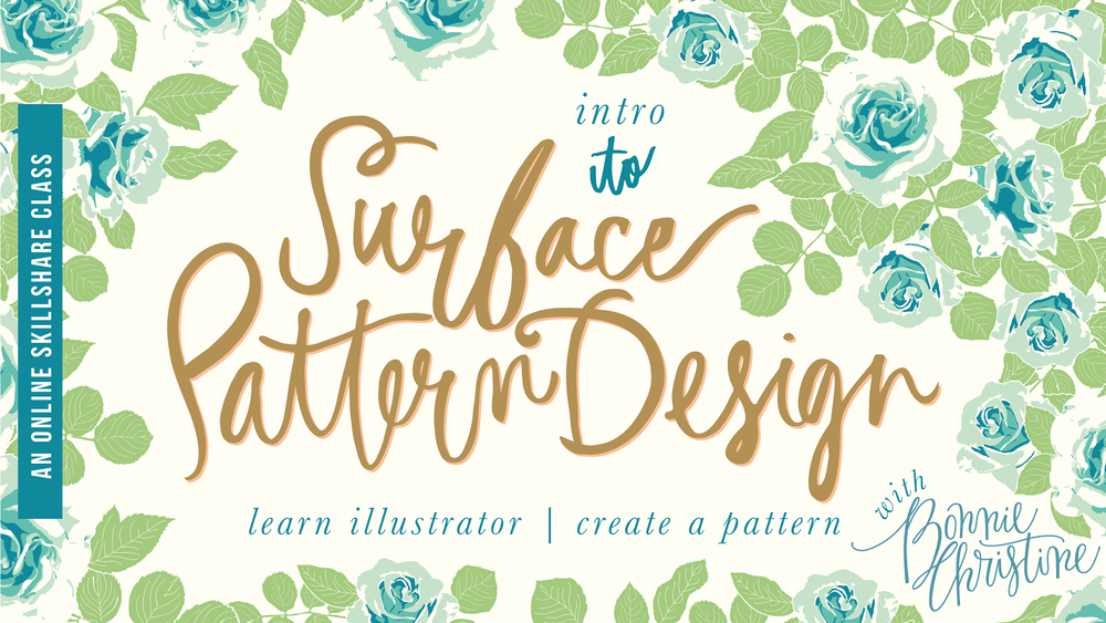 Intro to surface pattern design by bonnie christine