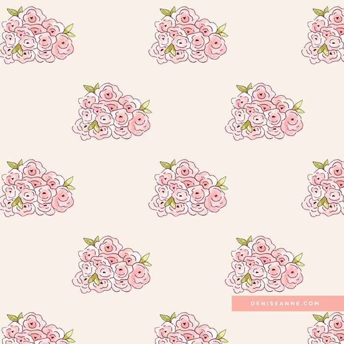floral little flowers repeating pattern design