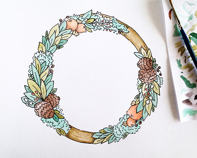 watercolorwreath