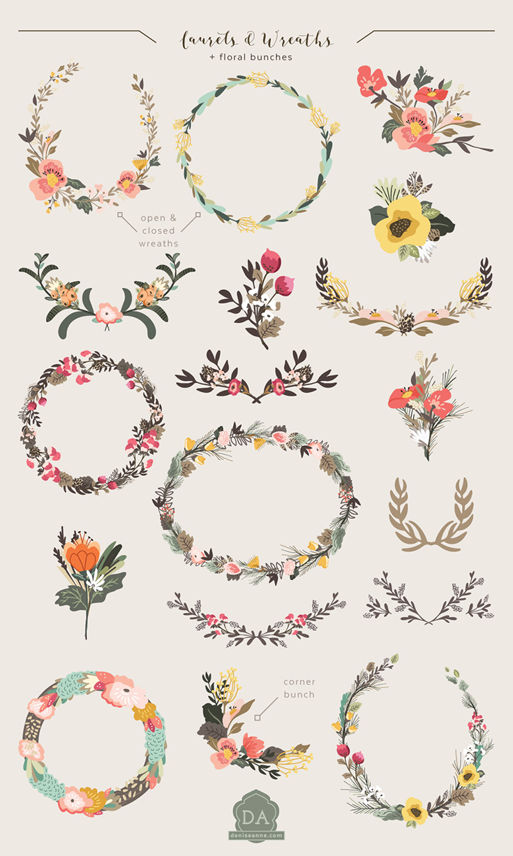 graphics_pack_thicket_thatch_woodland_florals
