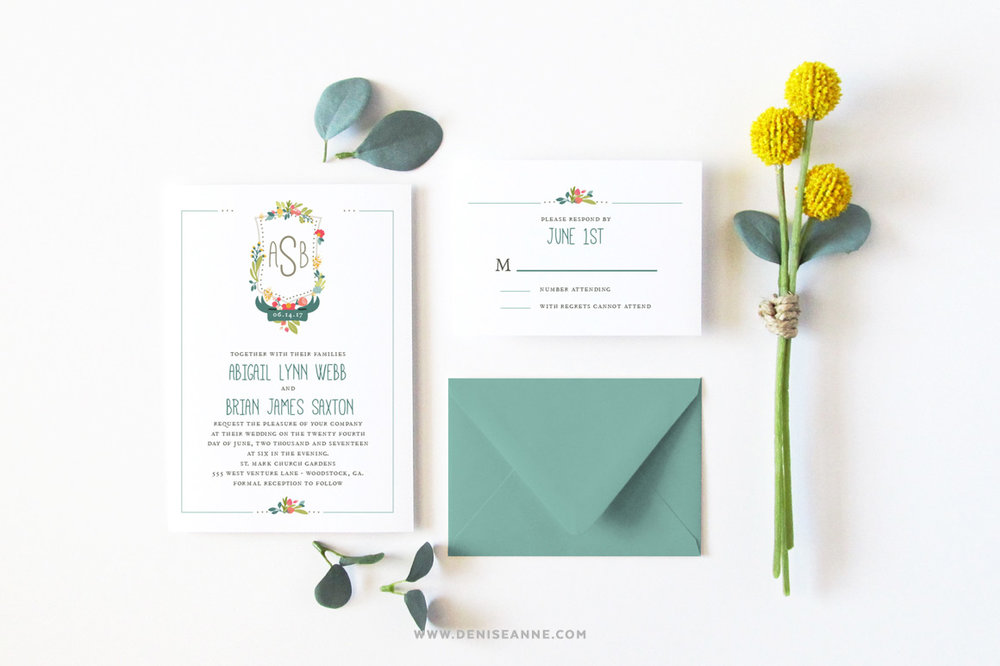 new invitation mockup set  u2014 denise anne