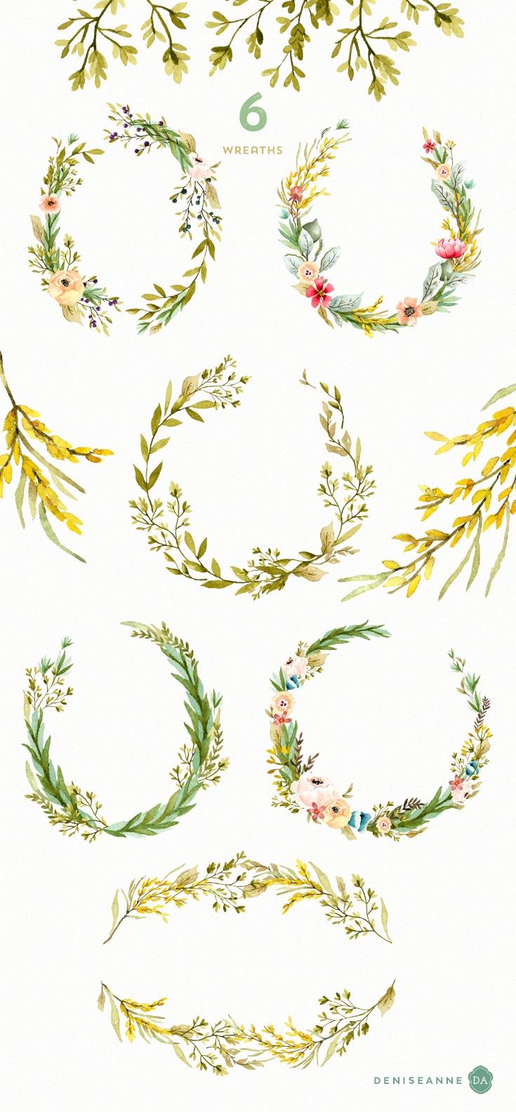 watercolor-wreaths