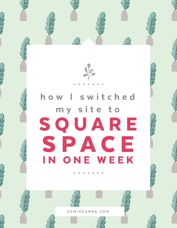 How I switched my site to squarespace in one week