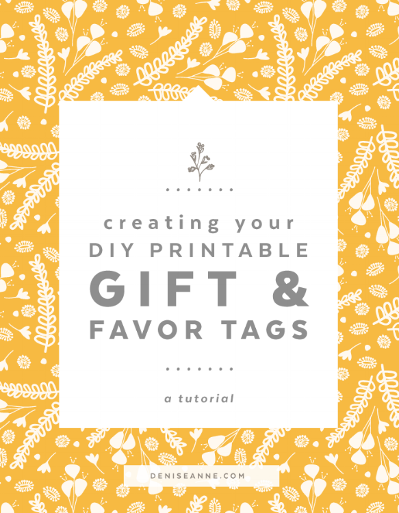 Create your DIY Printable Gift & Favor Tags
