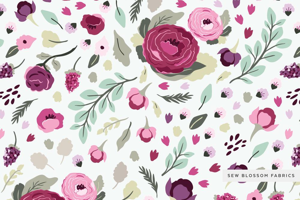 Hero Pattern: Fresh Blossom Blooms