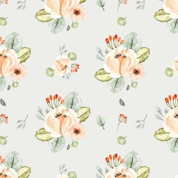 Orchard Park Floral - Digital Paper Sheet - Click image to download