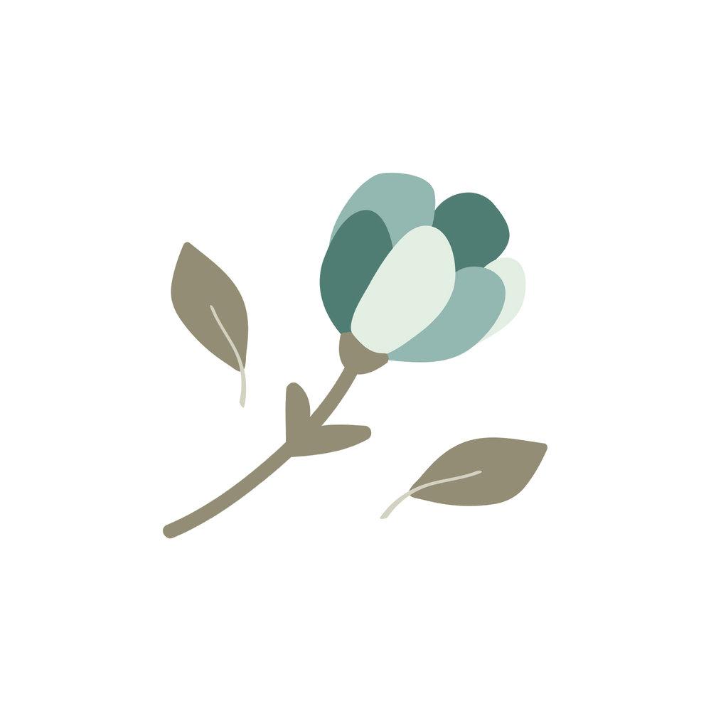 Blue Flower Tulip Graphic