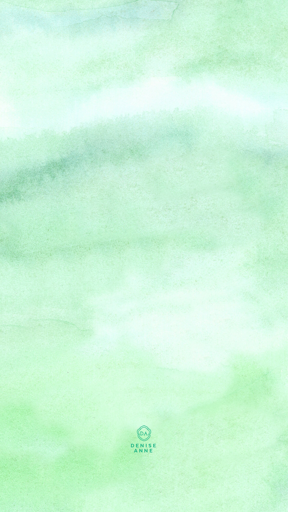 Watercolor Greens - click for download links