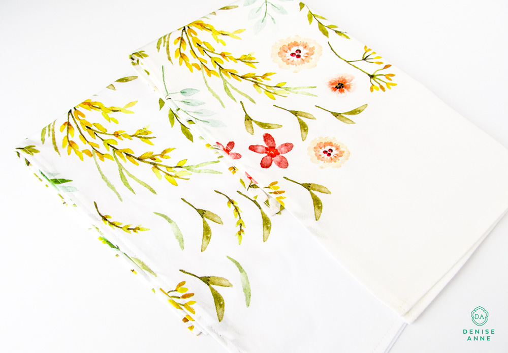 The finished tea towels!   Shop the tea towel fabric designs here >>>