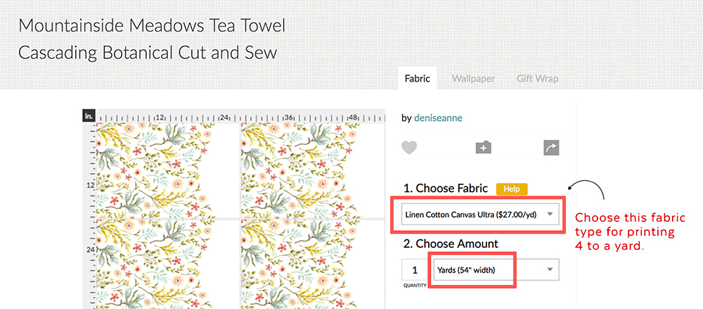 How To Make A Tea Towel Using Custom Printed Fabrics Denise Anne