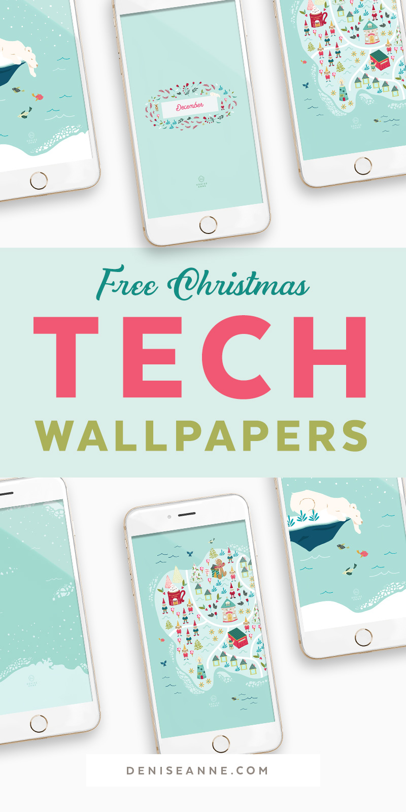 Free Christmas Phone Wallpapers Santa S North Designs Denise Anne