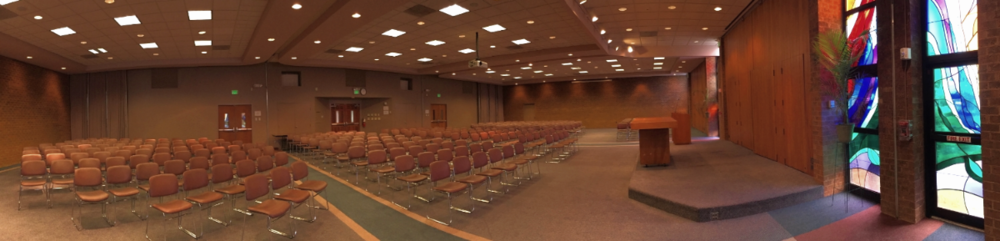 The Room 200 Complex set up auditorium-style