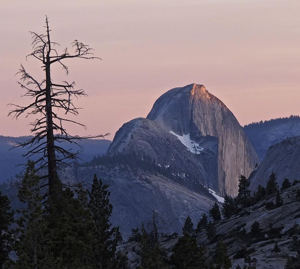 D. Pumplin, Last Light on Half Dome