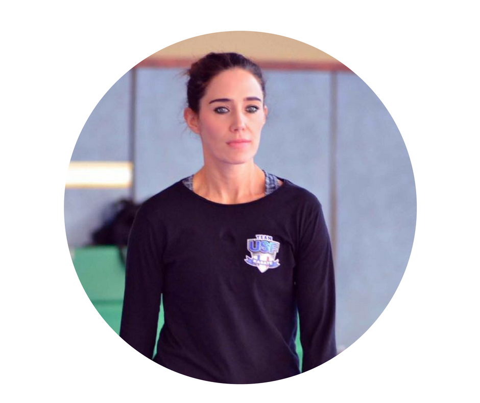 Stéphanie, directrice sportive, coach team USF karaté
