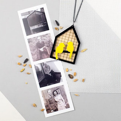 canary aviary themed laser cut wood and acrylic jewellery