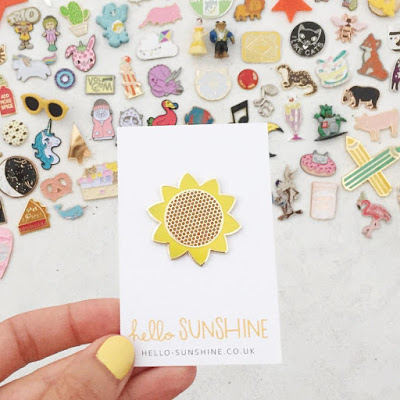 Cheerful Sunflower enamel pin by Hello Sunshine