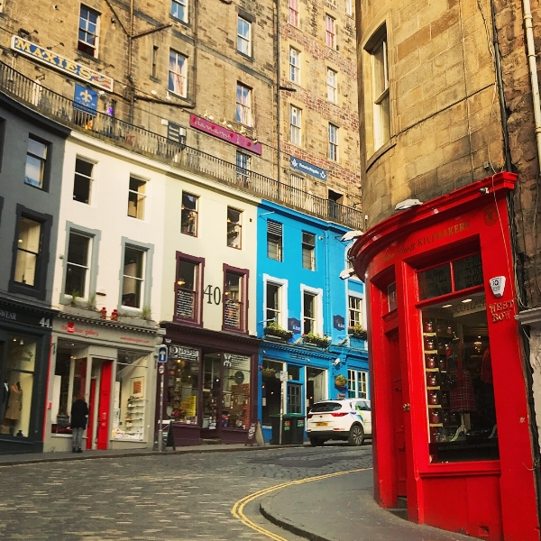Charming and colourful Victoria Street.