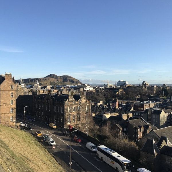 View of Arthur's Seat from the Castle.