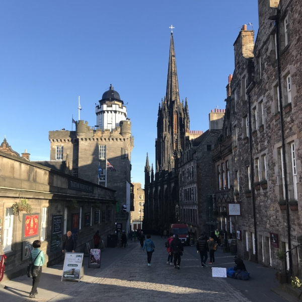 Looking down The Royal Mile, just the beginning!