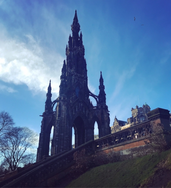Scott Monument from Princes Street Gardens.