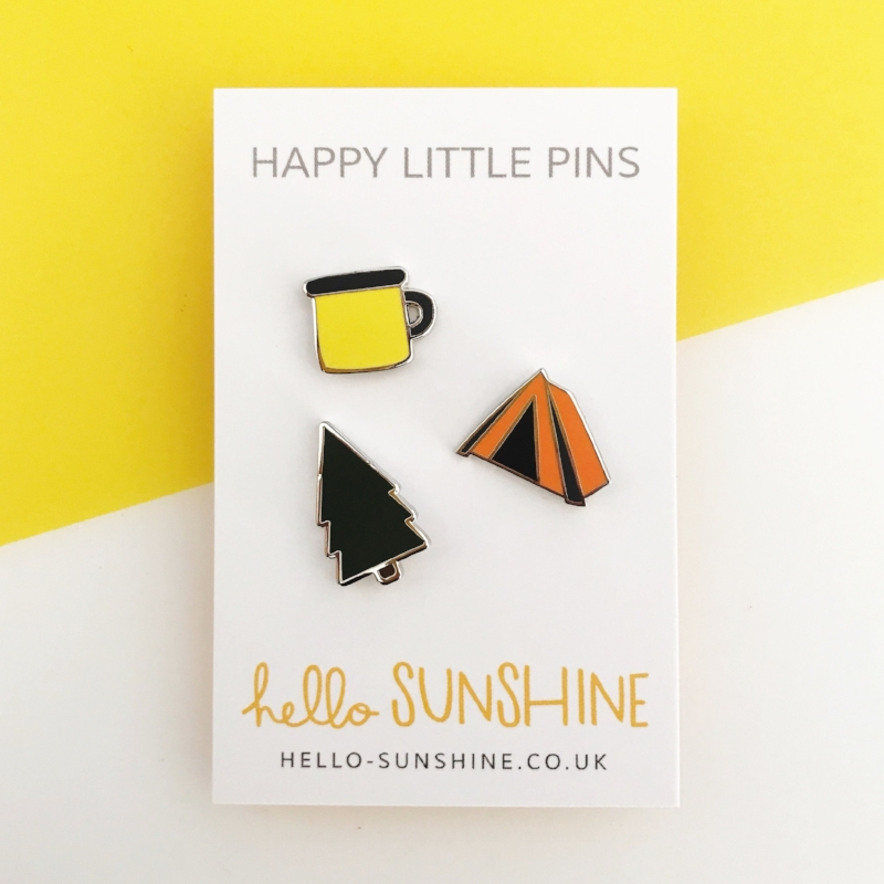 Happy Little Camping Pins!