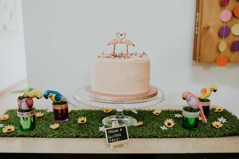 Two Little Cats Bakery 's GF and Vegan Funfetti cake styled beautifully by April  @kookevents   📷  Daniel Ackerley Photography