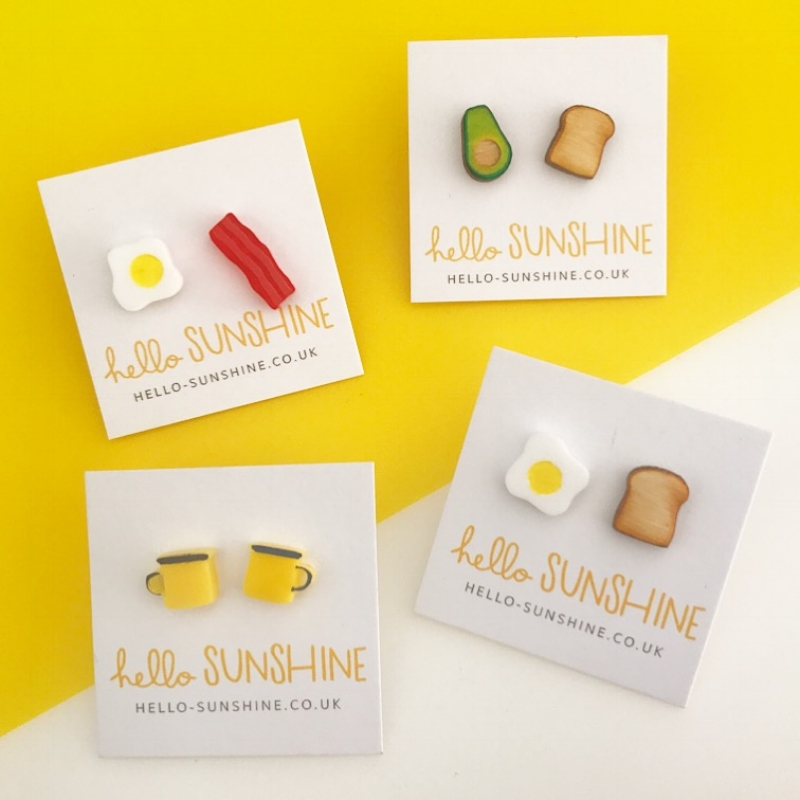 Laser cut earrings, based on my favourite foods :  hello-sunshine.co.uk/shop