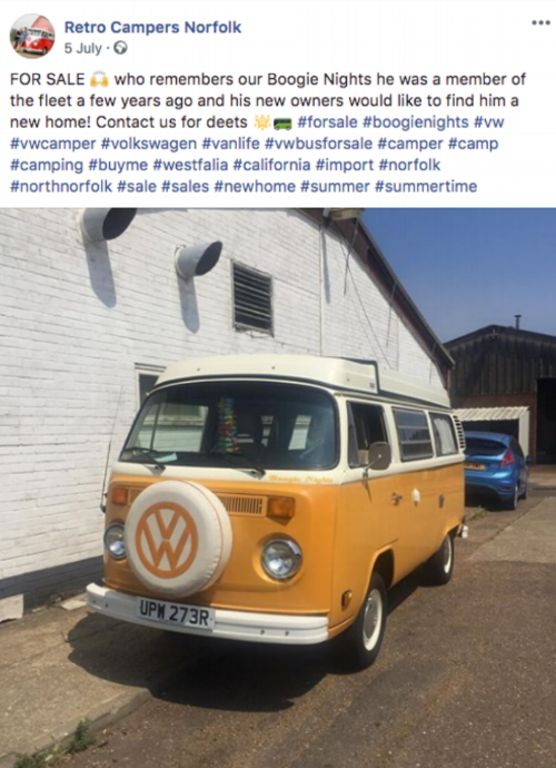 THE DREAM up for sale at  Retro Campers Norfolk