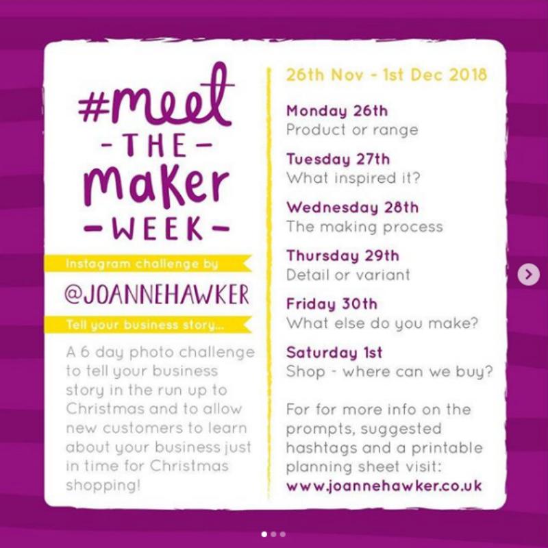 Joanne Hawker's Meet the Maker week prompts  ✨