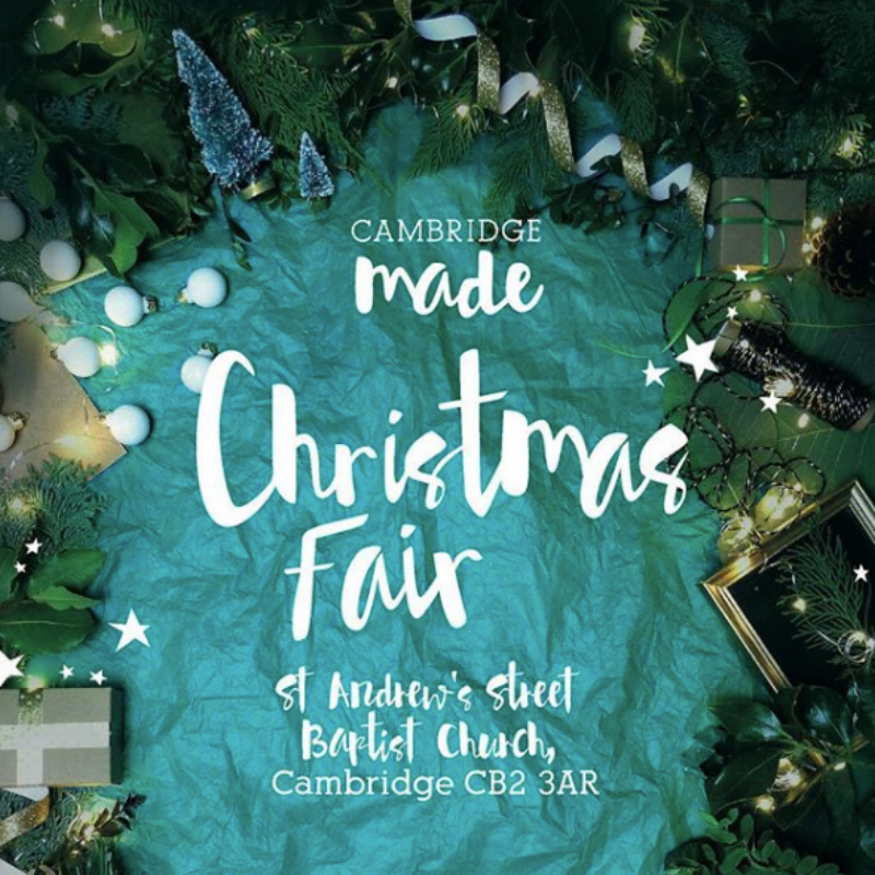 Cambridge Made Christmas Fair  : 29th Nov - 1st Dec 🎅🏻