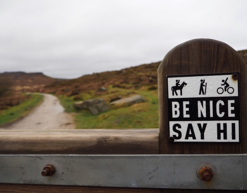 Even the signs are friendlier up North!