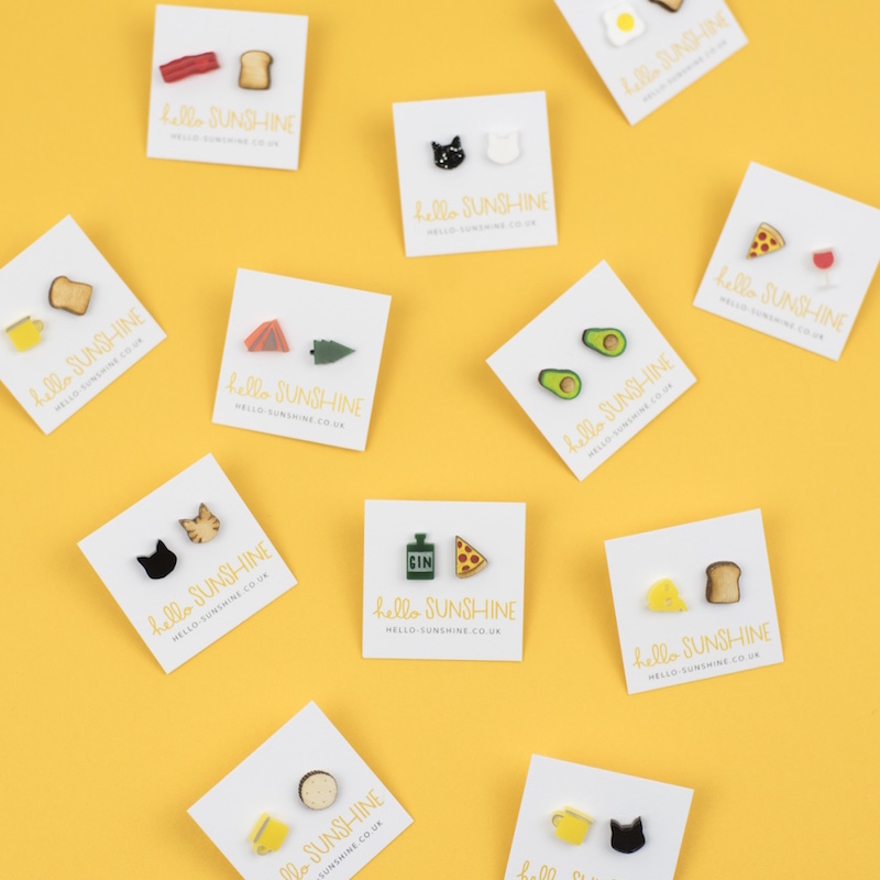 More  mix'n'match Sunshine studs  coming soon!
