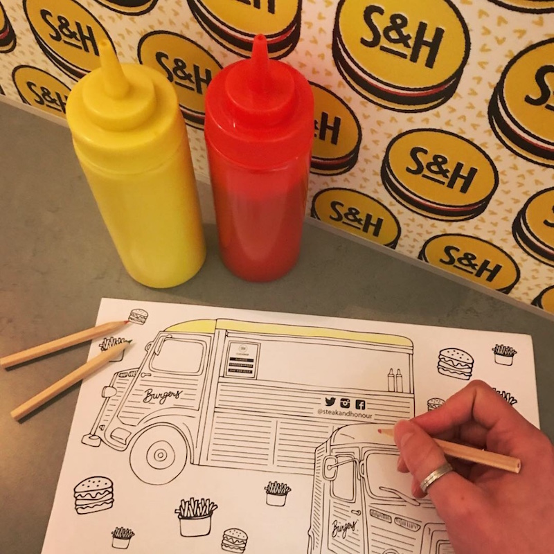 If you get chance to pop into  @steakandhonour  on Wheeler Street (which you should!) then make sure you ask for crayons and some colouring pages 😋