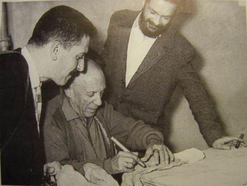Charles Voltz, Pablo Picasso, Robert Pérot.