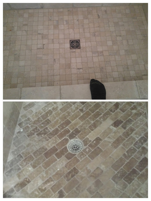 """Compare and contrast the visual appeal of the top drain and the bottom drain and be sure to ask your potential installer, """"What does the drain you'll be providing me with look like?"""""""