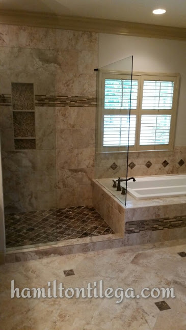 A custom shower will allow you security in your old age. It is custom built so it's no problem adding grab bars or small tile on the floor to secure your footing. Don't want to step over a curb? Perfect. We have the training and experience to make your shower 'CURBLESS'