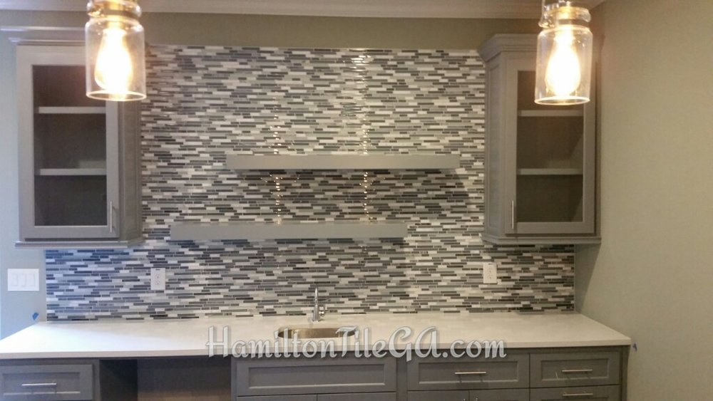 What's not to like about this back splash in Woodstock, GA. Truly accentuates the décor in this area.