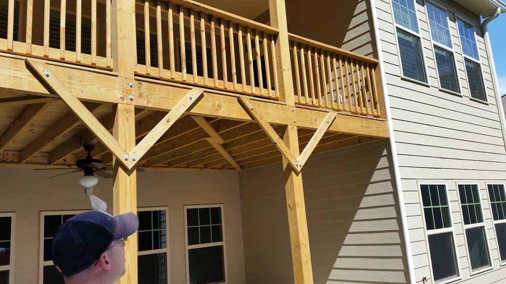 """We want this deck tiled and my builder told me it was ready!"" Sorry, but basic codes (if they were read) would say that 2""x8"" aren't rated for this span and we need to re-enforce them...just an extra $5k. Thanks framer!"