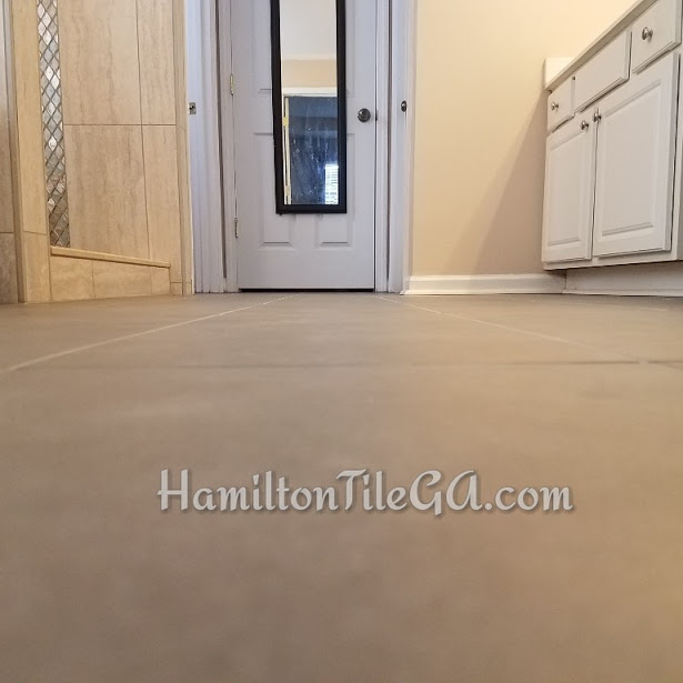 The pros go for flatness. This one passes the test. If you're buying rectified edge tile, you need the professional Hamilton Tile touch. We are two of 1600 CERTIFIED tile installers in the USA. What does that mean? It means a LASTING INSTALL and that we KNOW WHAT WE'RE DOING. GUARANTEED.
