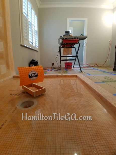 Make sure the competition is doing a 'flood test' on their work. It's not economically expedient for a tile company because it involves a drive to your house, and a bucket of water to fill the pan…and nothing else can be done on the shower for 24 hours! Better safe than sorry though, I always say.