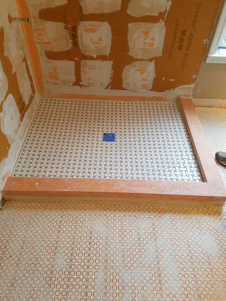 "If you're having a shower built, having it waterproof is the most important part. This is how we waterproof.  Schlutersystems.com  speaks for itself as to why they have the best products for a bathroom. Ask our competition, ""How do you water proof?"" That is the most important question when you're getting a bid for a shower."