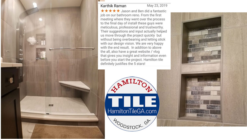 Many builders will low ball their bid just to get the job.  We will not compromise on our quality standards just to book work.    Click here for a short walkthrough of this bathroom.