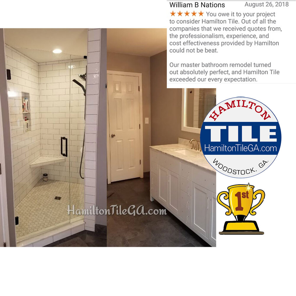 A full bathroom remodel is quite an undertaking. If you care about how your project is put together, we want to work with you! Hire the specialists at Hamilton Tile, LLC. Woodstock, GA.