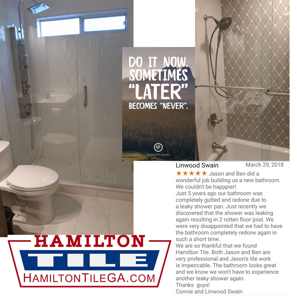We build designer custom plumbing fixtures. We take high priced raw material and turn it into a show piece. Our 'full service' tile job includes a ten year warranty on all our work, because we are here to stay.