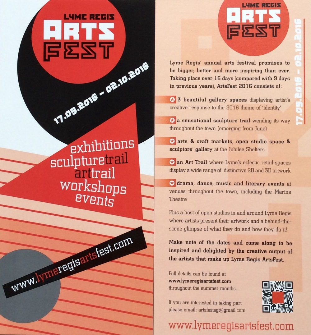 The new leaflet about this years ArtsFest