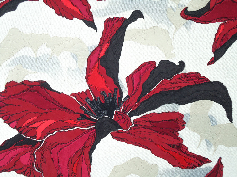 Red Clematis | Helen Poremba Textile Art & Sewing Workshops