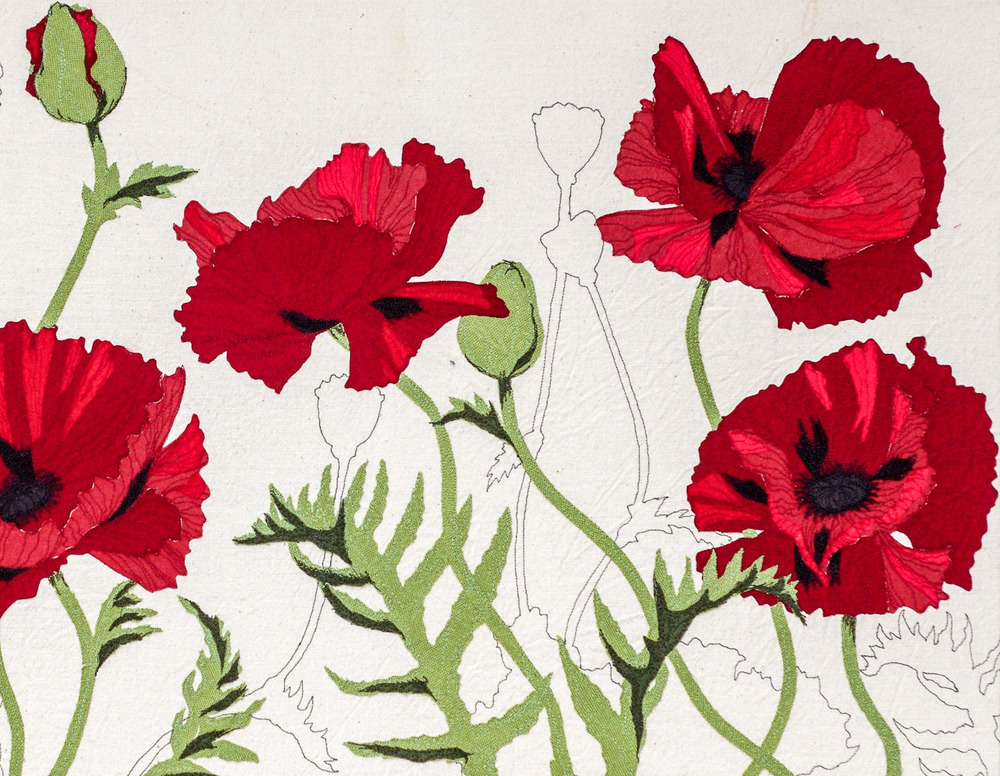 Red Poppies | Helen Poremba Textile Art & Sewing Workshops
