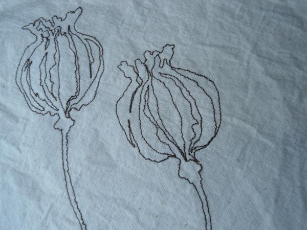 Helen Poremba Textile Artist - poppy-head-stitched