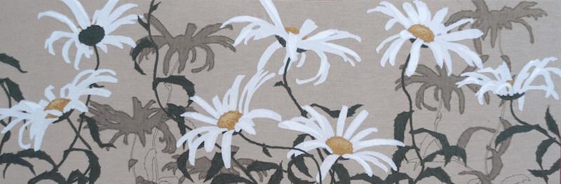 Helen Poremba Textile Artist - Flat Cat Gallery Exhibition - Daisies