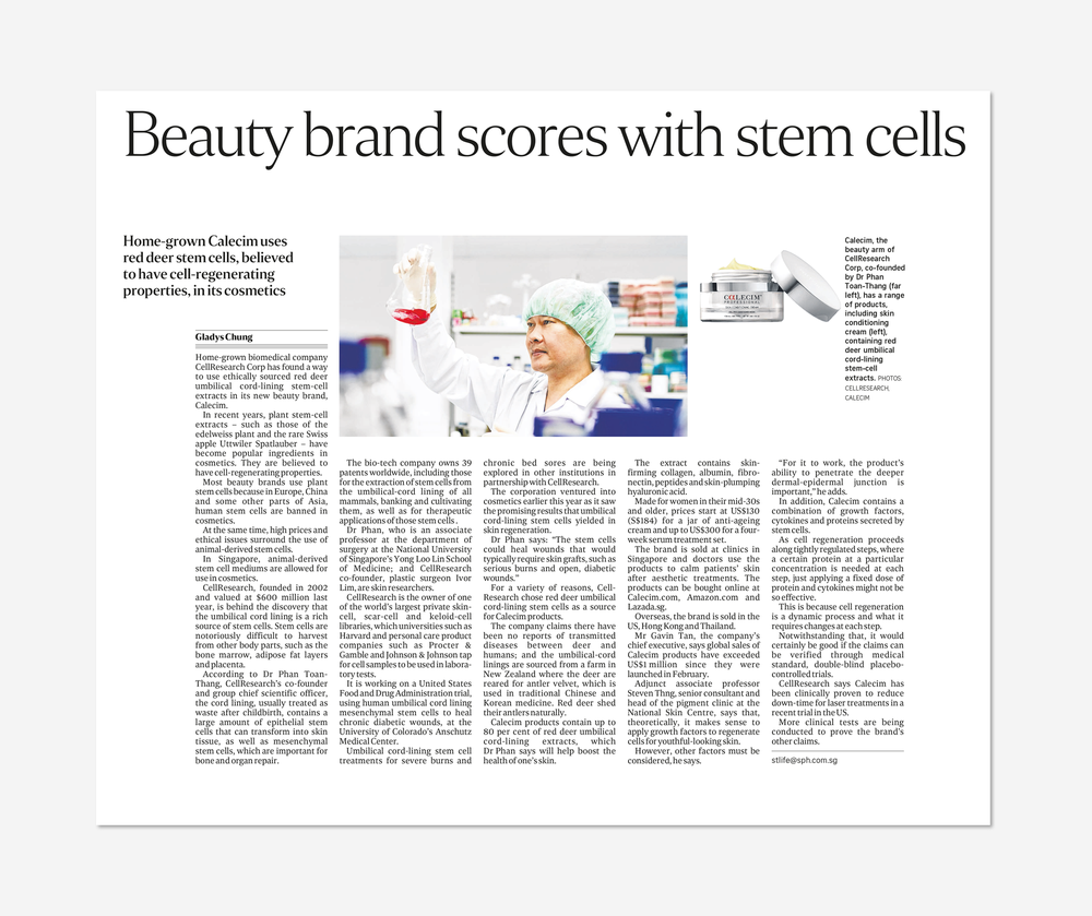 Beauty brand scores with stem cells